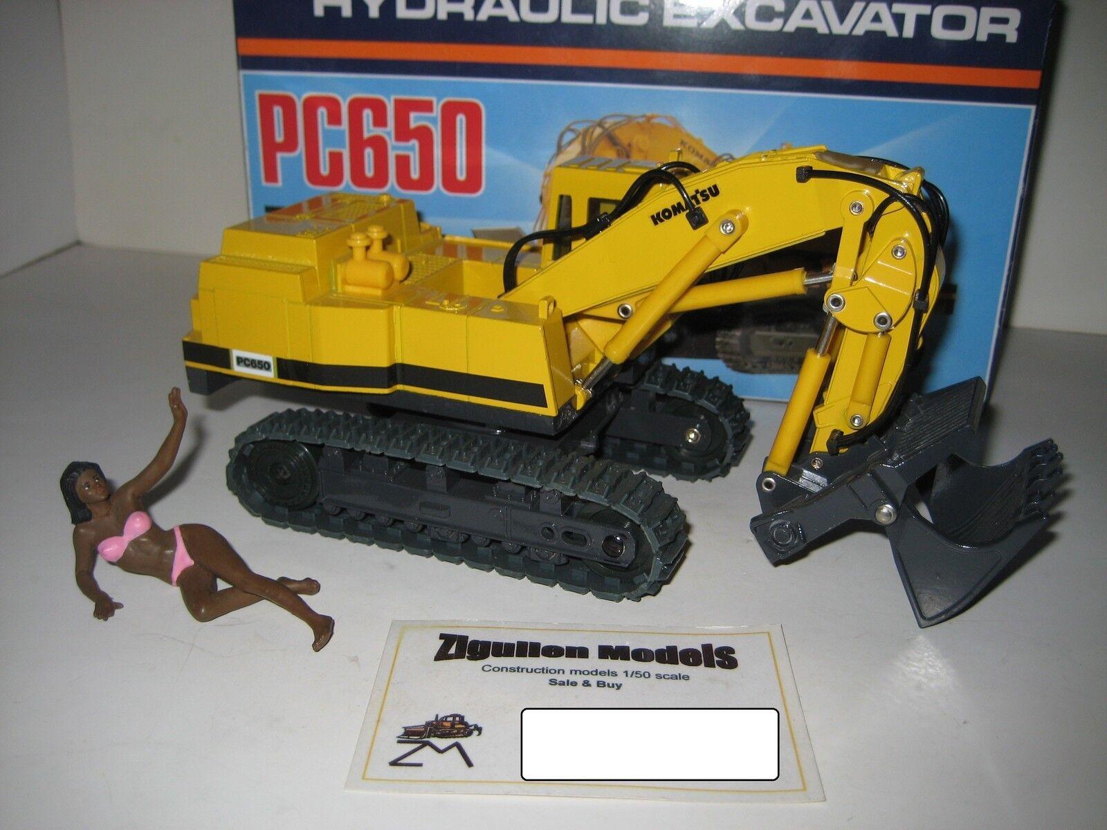 KOMATSU PC 650 BAGGER HOCHLÖFFEL RAUPEN yellow SHINSEI 1 50 OVP RARITÄT