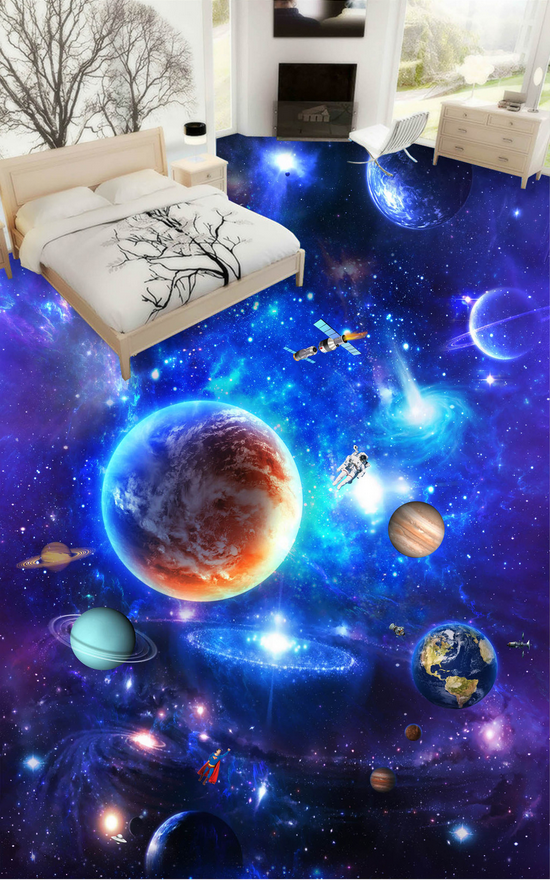 3D Blau Space Planet  72 Floor WallPaper Murals Wall Print Decal AJ WALLPAPER US