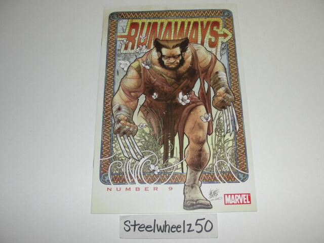 Runaways #9 Wolverine Variant Marvel Comics 2009 David Lafuente Terry Moore RARE