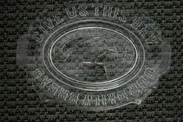 Vtg Clear Glass Give Us This Day Our Daily Bread Platter Liberty Freedom 1776 Ebay