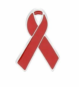 Pins-SIDA-Ruban-Rouge-Metal-Prevent-AIDS-Badge-Ribbon-Label-Pin