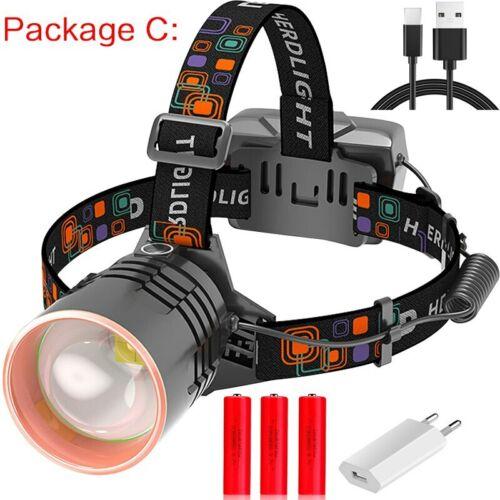 80000LM USB Rechargeable XHP50 Led Headlamp Headlight Cycling Lanterna 18650