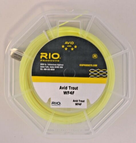 Rio Avid Trout Fly Line WF4F Pale Yellow FREE SHIPPING 6-20129
