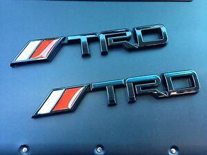2 trd black 3d vehicle emblem decal sticker toyota tundra. Black Bedroom Furniture Sets. Home Design Ideas