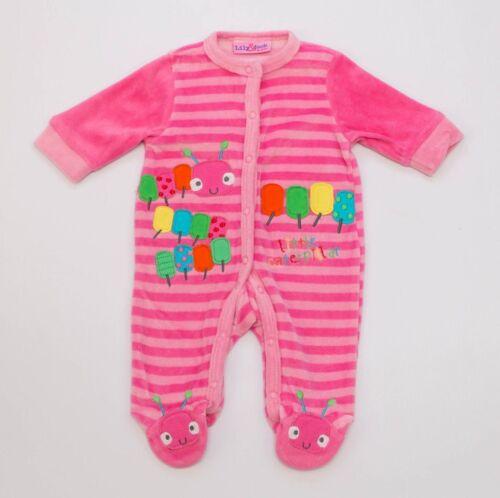 Baby Velour Nicki Strampler Warme Anzug Mädchen//Jungen Englandmode