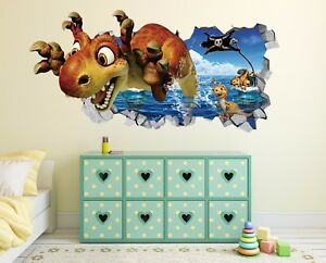 Image Is Loading 3D Cute Dinosaur 71 Wall Murals Stickers Decal