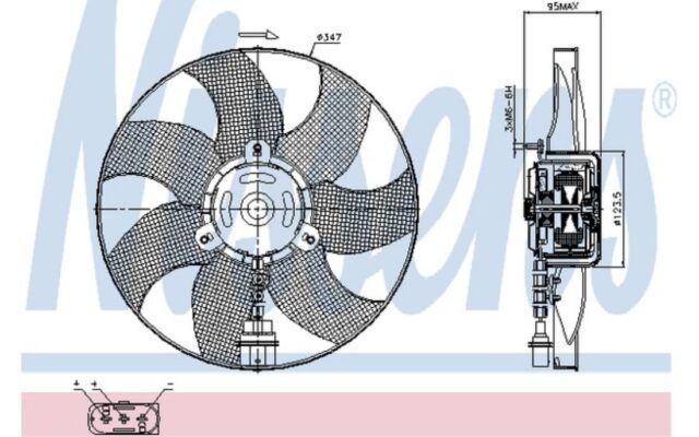 NISSENS Ventilador, refrigeración del motor VOLKSWAGEN SEAT IBIZA SKODA 85543