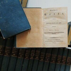 1828-Goethe-Werke-Ausgabe-aus-letzter-Hand-ERSTAUSGABE-Cotta-Klassiker-55-Baende