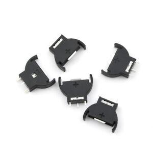 5x CR2032//CR2025 Half-Round Battery Coin Button Cell Socket Holder Case BlaRSQE