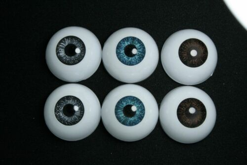 Bjd doll acrylic eyes 16 mm blue for reborn dollfie msd yosd minifee crafts