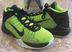 f9f576154d68 Image is loading NIKE-Zoom-Ascension-Kids-Volt-Black-Basketball-Shoes-