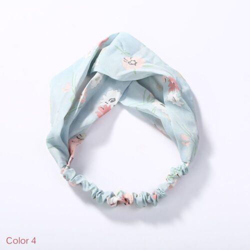Korean Style testa Wrap Floreale Turbante Donna Twisted Cerchietto elastico Hairband