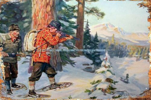 buy art prints Classic Hunting moose Philip Goodwin metal tin sign