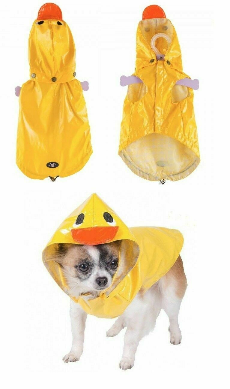 Ancol Small Bite Dog Rain Coat Duck Mac With Hood Yellow Various Sizes Puppy