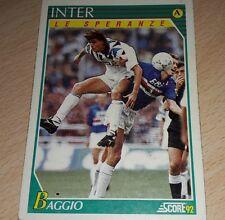 CARD SCORE 1992 INTER BAGGIO CALCIO FOOTBALL SOCCER ALBUM