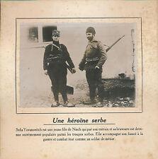 PHOTO PRESSE c. 1910 - Sofia Yovanovitch Femme Soldat Serbe  Serbie  - 153