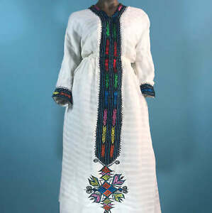 Details about Eritrean, Ethiopian Dress, Traditional Clothes, Habesha  Kemis, embroidered