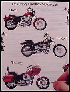 1985 Harley-Davidson Brochure Sportster Softail Electra Glide Low Rider XR1000