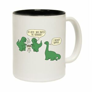Details About Funny Mugs Dinosaur T Rex Bbq Tea Coffee Mug Novelty Vegetarian Birthday Gift