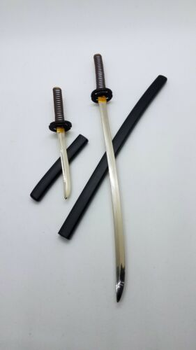 Full Metal Samurai Katana Swords Black Brown 1//6 Scale 12Inch Figure Hot Toys