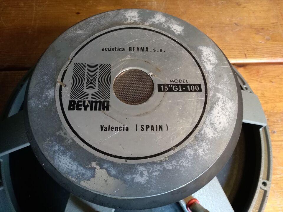 Højttaler, Beyma, 15 gi-100