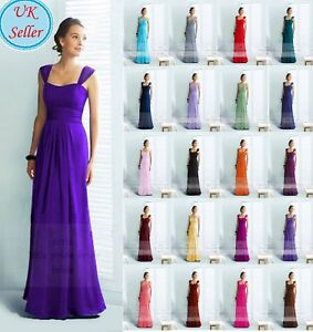 LACY CHIFFON FULL LENGTH  BRIDESMAID EVENING DRESSES SIZE 6-24 JS60 SIZE 6-24