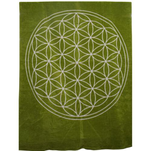 Richter Textilien Decke Blume des Lebens Bio-Baumwolle