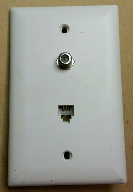 Wall Plate Phone /& Video Connector BLACK TradeMaster F Type Coax   NEW