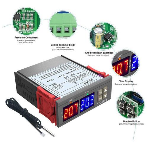STC 3018 10A  55  110 ° C Präzisions Temperaturregler Reglerschalter C F.