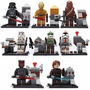 8-PCs-Mini-Figuren-Mini-Feigen-Star-Wars-passt-mit-Lego-CLONE-TROOPERS-Vader-UK