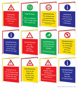 Brother Humour Birthday Card With Badge New Uk Greetings Warning!