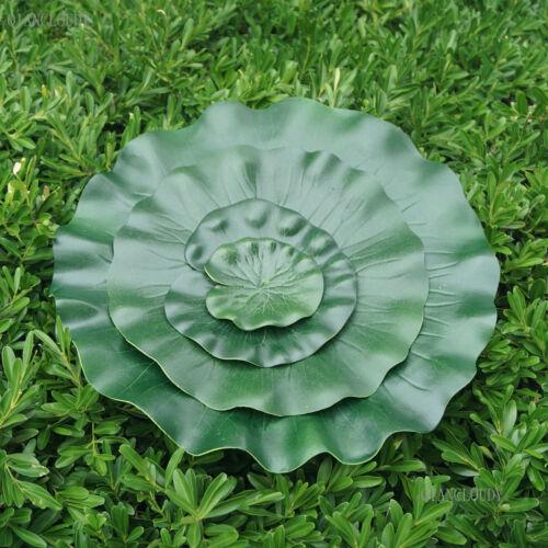 Set fake Artificial Foam eva Lotus Leaf pad flower Water Lily Floating Pool pond