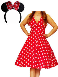 Details about MRD@ Funfash Plus Size Halloween Costume Red White Dots Dress  Minnie Mouse Ears