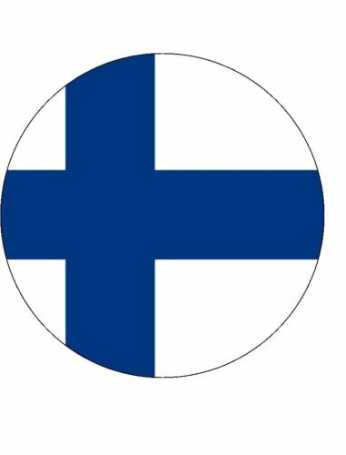 15 FINLAND FLAG 40mm PREMIUM RICE WAFER PAPER CUP CAKE FAIRY TOPPERS FINNISH D1