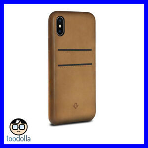 official photos ea601 03ee8 Details about TWELVE SOUTH Relaxed leather case, card pockets for iPhone X  / XS, Cognac Brown