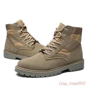 FU-Mens-Outdoor-Boots-Canvas-Leather-Military-Tactical-Army-Combat-Boots-Shoes