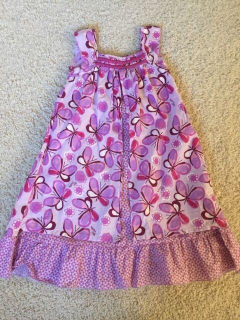 Naartjie purple butterfly tank summer sundress sun dress 6 po