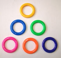 24 - Multi-color Plastic Cane Rings Toss Throw Carnival Party School Childs Game
