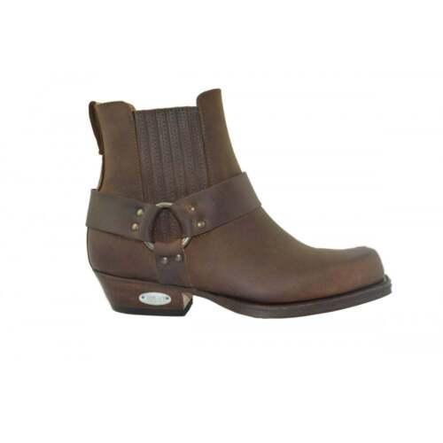 Western da 096 Loblan in Boot Biker pelle Toe cowboy Stivaletti Square marroni Chisel n86wwOxEqd