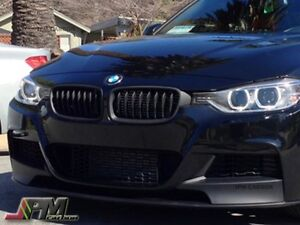 P Style Matte Black Front Kidney Grille For 12 17 Bmw F30 3 Series