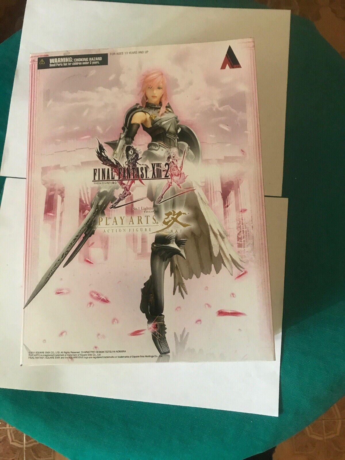 Lightning No.1 Final Fantasy XIII-2 Jugar Arts Kai Acción Figura Square Enix