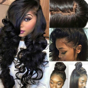 4 4 Silk Top Full Lace Human Hair Wig Pre Plucked Wavy Peruvian Lace ... 8ccdce782ad2