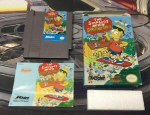 Nintendo-NES-The-Simpsons-Bart-Vs-The-Space-Mutants-Box-Manual-Game-Complete-CIB