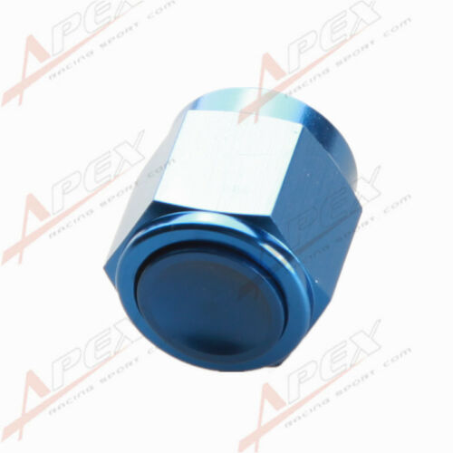 4AN AN-4 AN4-4AN Flare Cap Caps Block Off Fitting Aluminum Blue