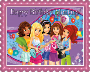 Wondrous Lego Friends Edible Cake Topper Or Cupcake Topper Decor Ebay Funny Birthday Cards Online Overcheapnameinfo