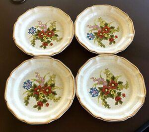 Mikasa-Garden-Club-Basket-of-Wildflowers-Salad-Plates-EC-403-Set-of-4-8-Inch