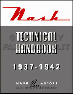 Nash Specifications and Wiring Diagrams Manual 1937 1938 ...