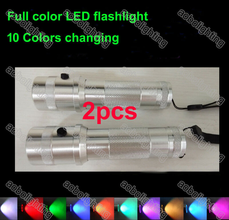 2x Multifunction 10 color Shine Flashlight Novelty  Lighting 3W Torch Night Lamp  online store