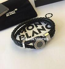 Montblanc Meisterstück Leather Stainless Steel Men's Bracelet