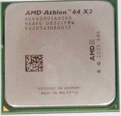 AMD DUAL CORE CPU Athlon X2 6000+ 3.1GHz Socket AM2 ADV6000IAA5DO